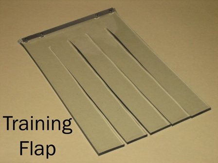 training flap option for Hale Pet Door models